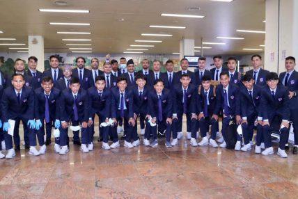विश्वकप छनोट खेलेर नेपाली फुटबल टोली स्वदेश फिर्ता