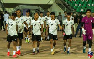 नेपाली फुटबल टोलीको कुवेतमा प्रशिक्षण गर्दै