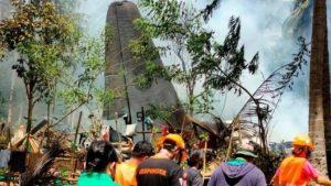 फिलिपिन्समा सैनिक विमान दुर्घटना हुँदा मृत्यु हुनेको संख्या ५० पुग्यो, ४९ जना घाइते